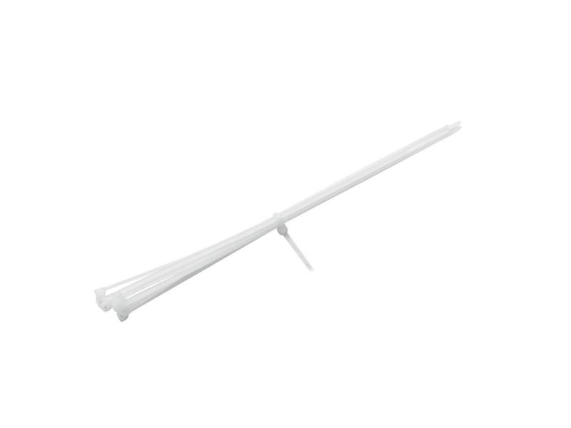 Vázací pásky na kabely 200x2,5mm, bílé (100ks)