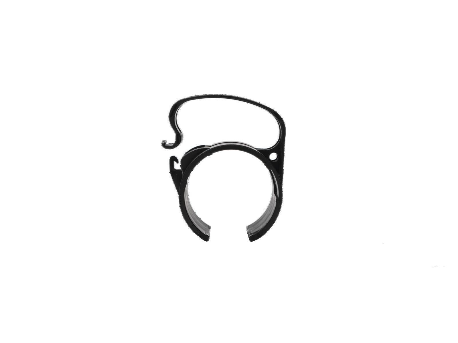 Snap plastový držák kabelů na konstrukci, Light verze, černý, sada 4ks