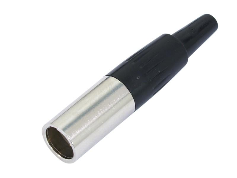 Mini XLR zástrčka, černá, 3 pólová