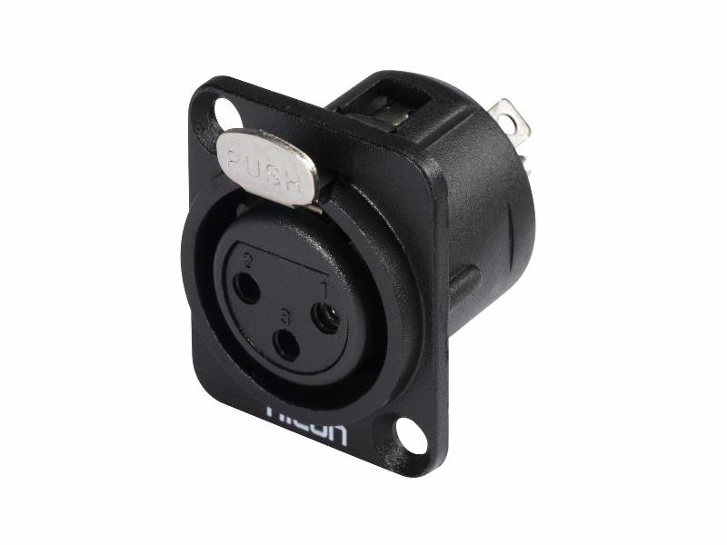 Hicon XLR mounting plug 3pin HI-X3DF-G