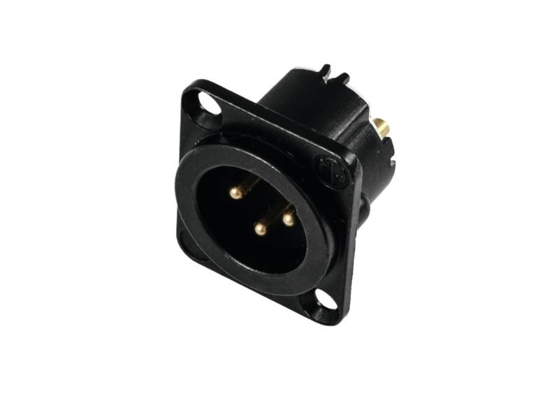 Neutrik XLR mounting plug 3pin NC3MD-LX-B