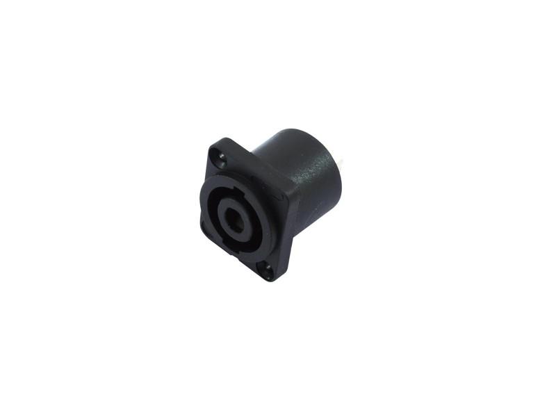 Omnitronic speakon 4 pólový na zabudování, zásuvka hranatá