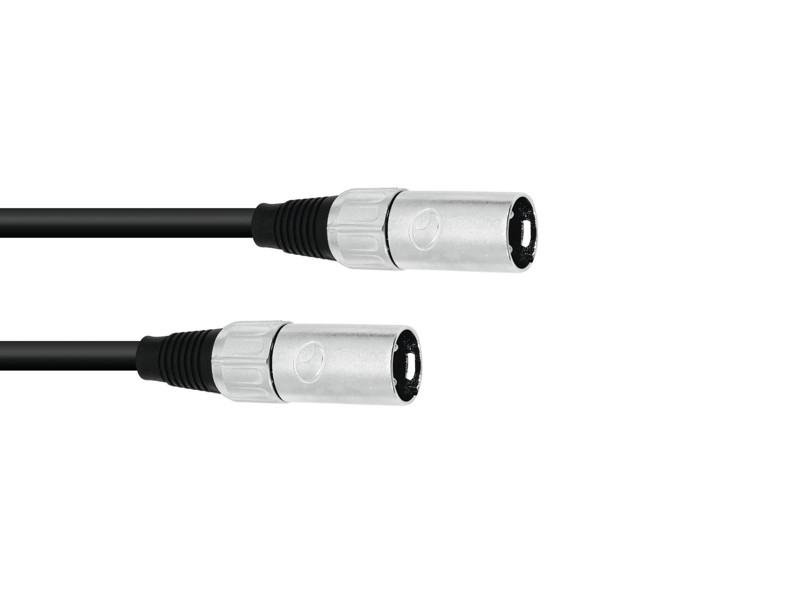 Omnitronic propojovací kabel XLR samec / XLR samec, 0,2 m