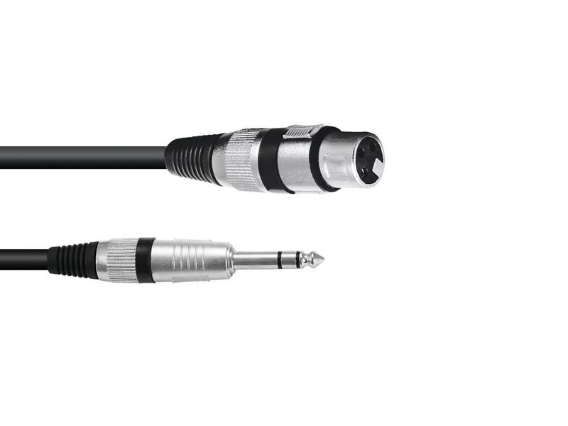 Kabel SADC XLR samice - Jack 6,3 stereo