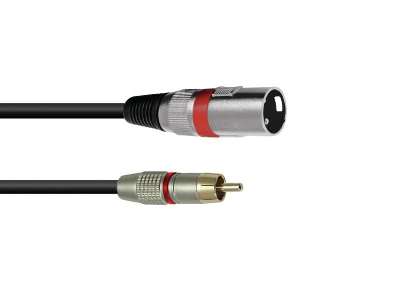Kabel AC-50R RCA - XLR samec červený, 5 m