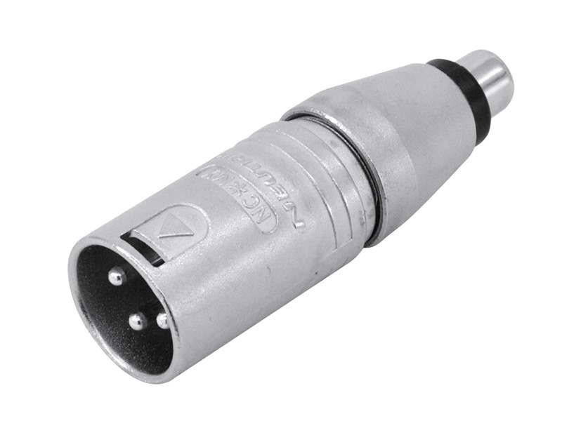 Redukce Neutrik NA2MPMF, XLR zástrčka - RCA zásuvka