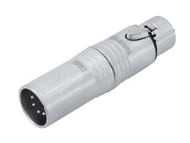 Redukce Neutrik NA3F5M, XLR 3-pólová zásuvka - XLR 5-pólová zástrč