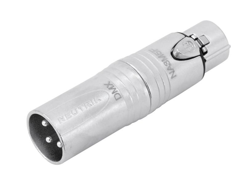Redukce Neutrik NA3M5F, XLR 3-pólová zástrčka - XLR 5-pólová zásuv