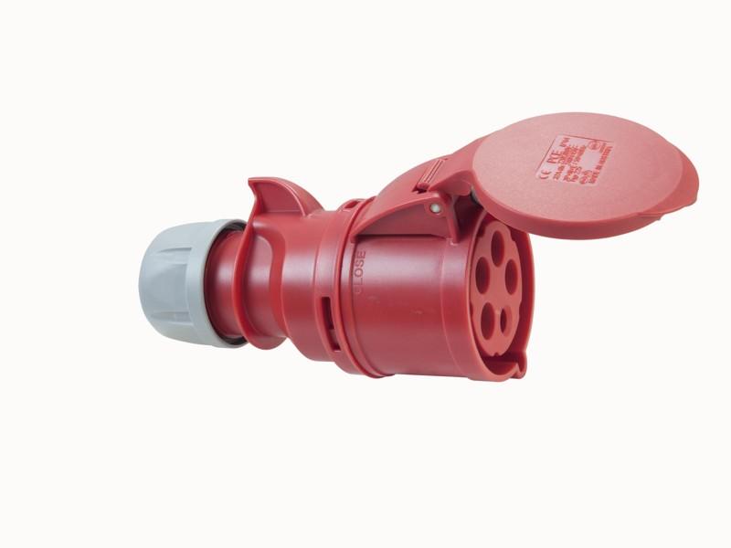 PC Electric zásuvka CEE, 32A, 5pin, červená