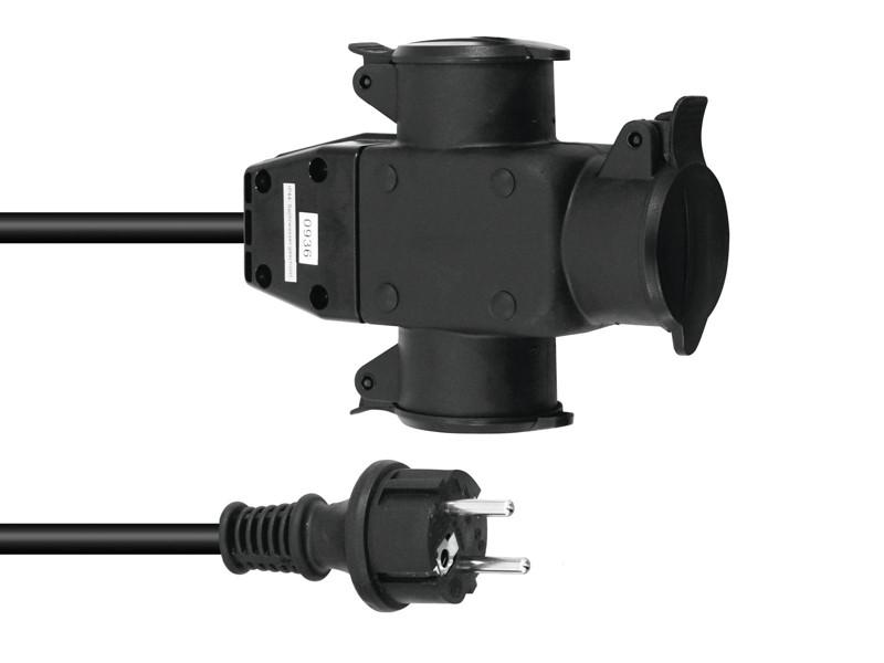 Prodlužovací kabel ECVG-3 H07RNF 3G1,5, 1 m
