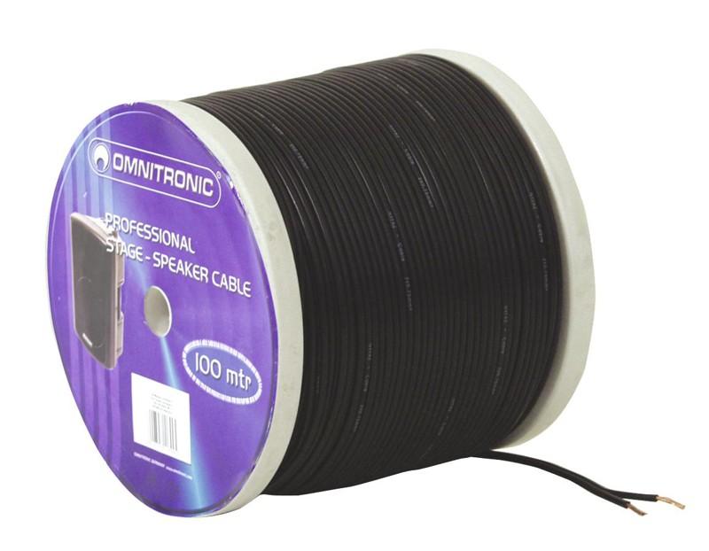 Kabel reproduktorový, 2x 0,75qmm, černý, cena / m