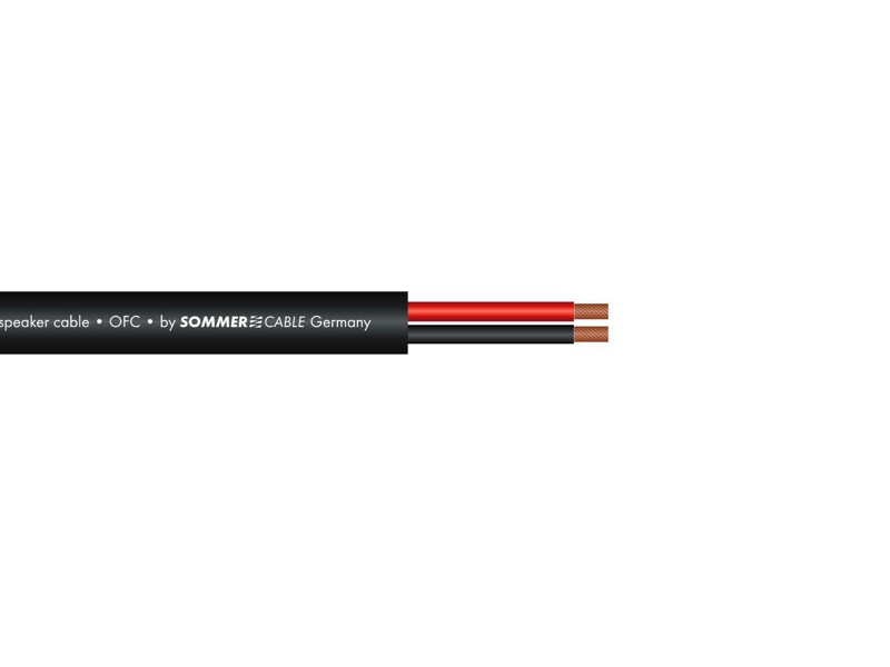 Sommer CABLE repro kabel 2x2,5, 100m role, černý, FRNC