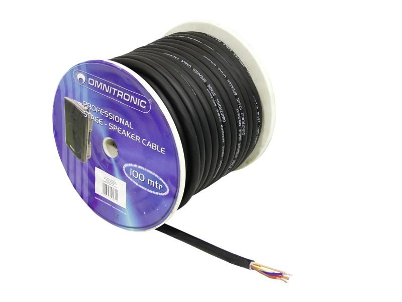 Kabel reproduktorový twinaxiální, 8x 2,5qmm, černý, cena / m