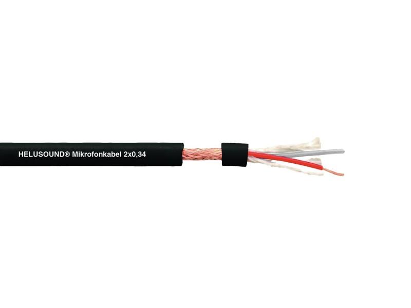 Kabel DMX High Quality, 2x0,34, 100m, černý