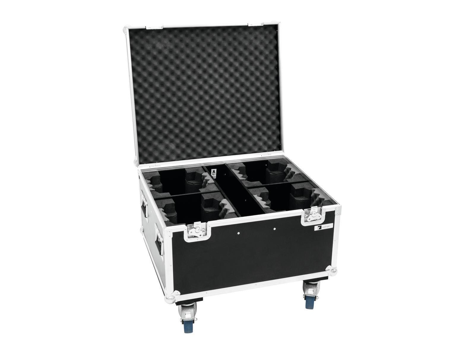 Roadinger Flightcase pro 4x TMH FE-600, na kolečkách