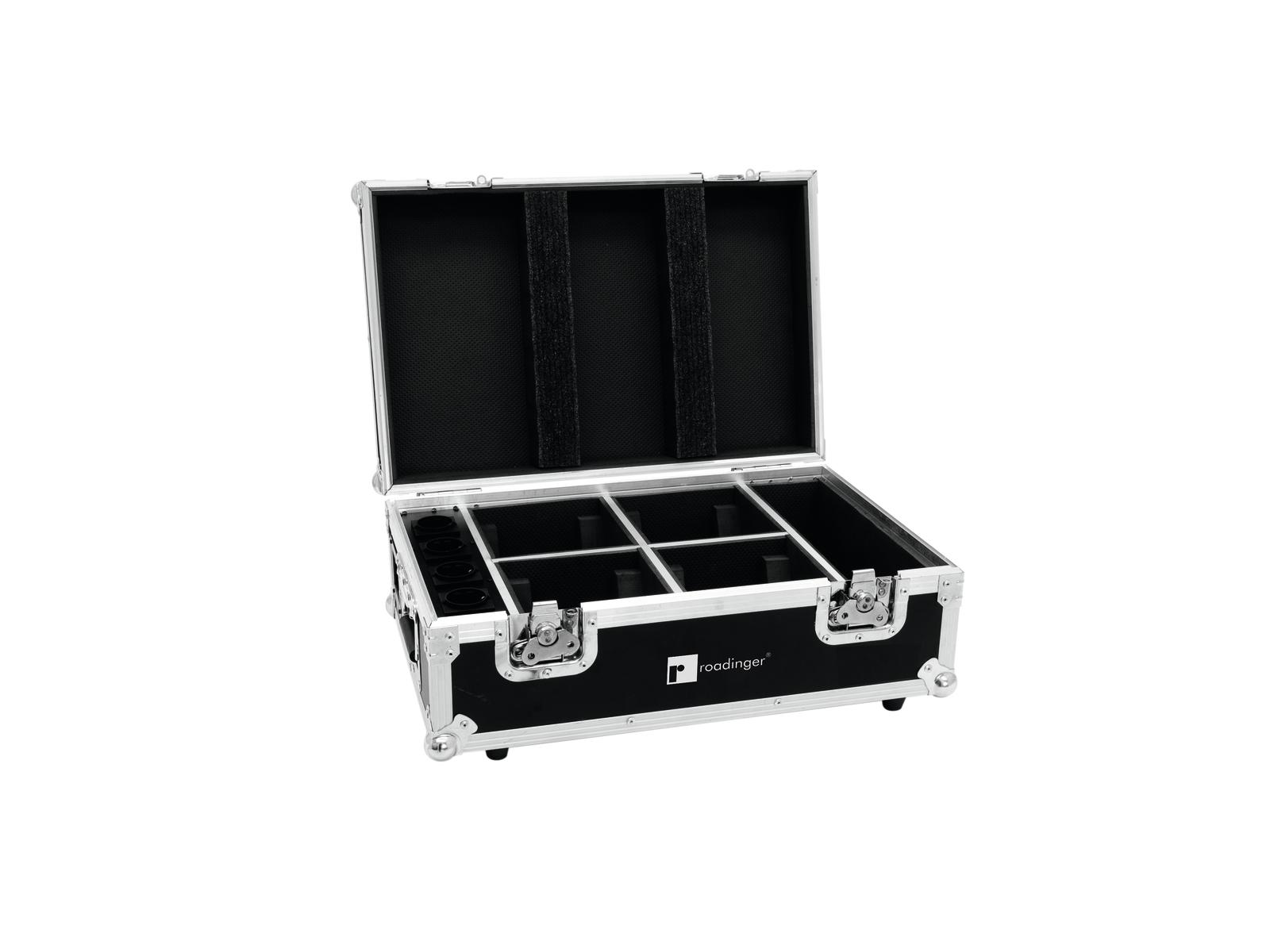 Roadinger transportní case pro 4x AKKU TL-3 Trusslight QuickDMX s