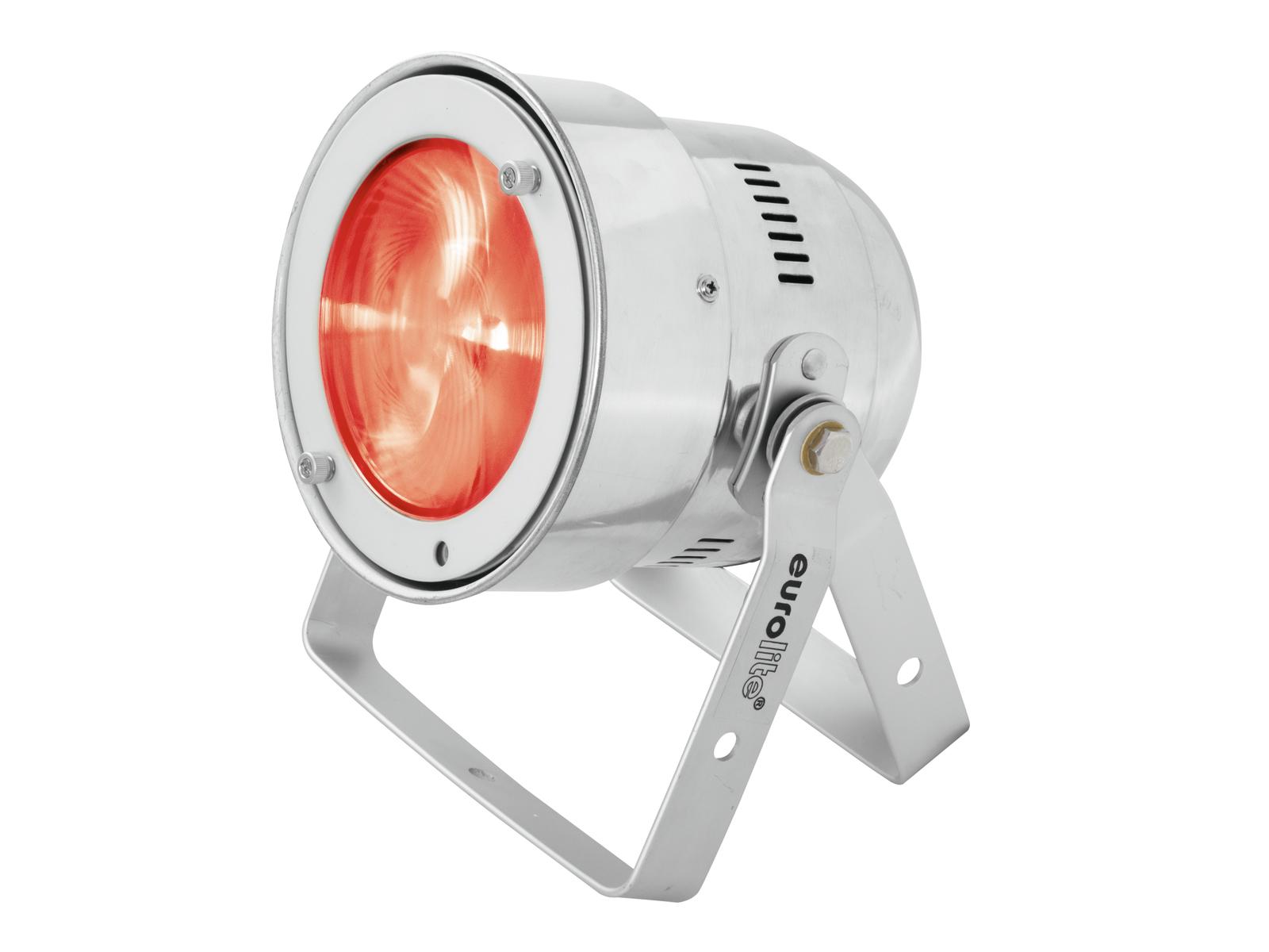 Eurolite LED PAR-56 COB RGB 25W, dálkové ovládání, stříbrný