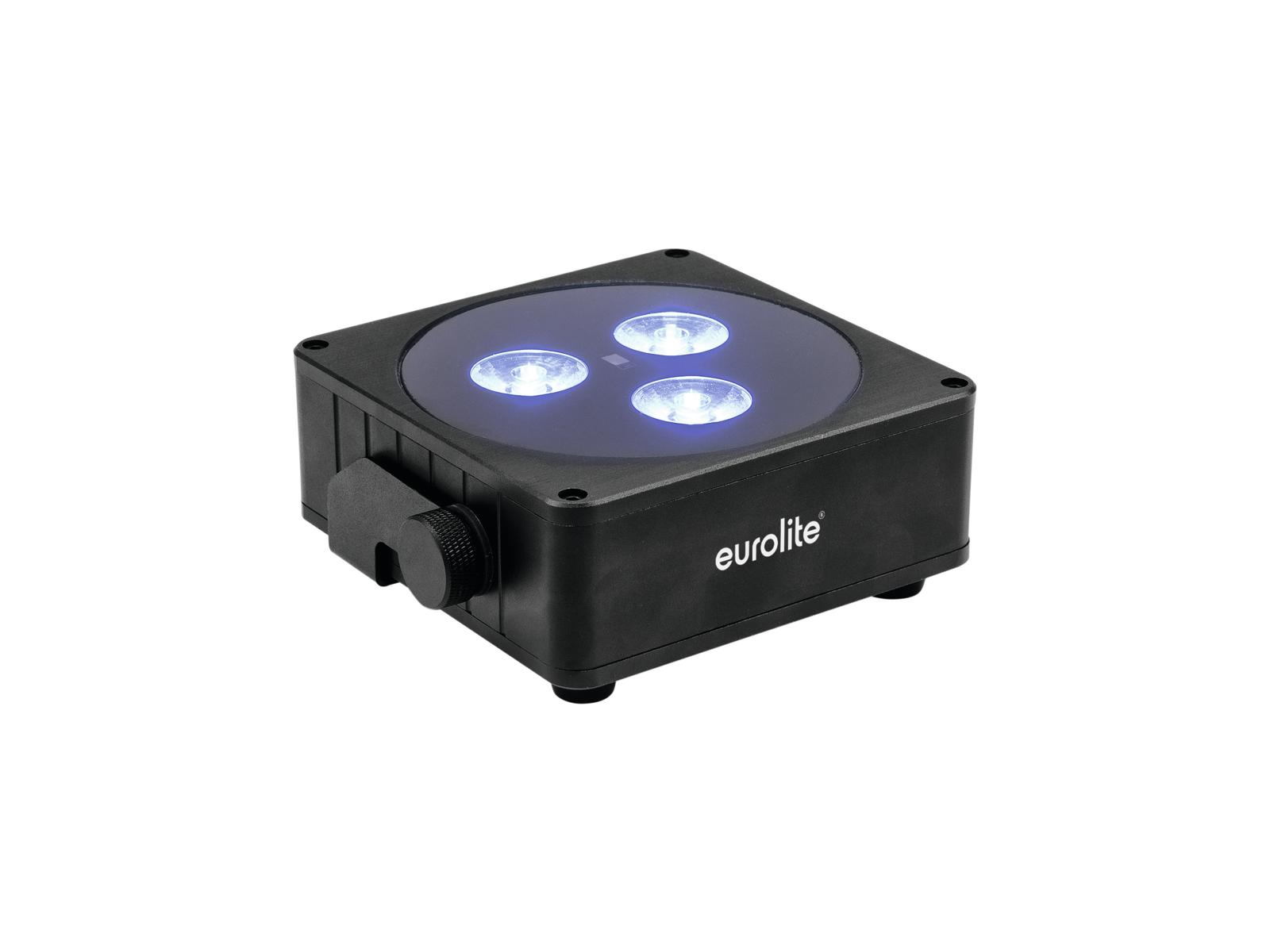 Eurolite AKKU Flat Light 3, černý