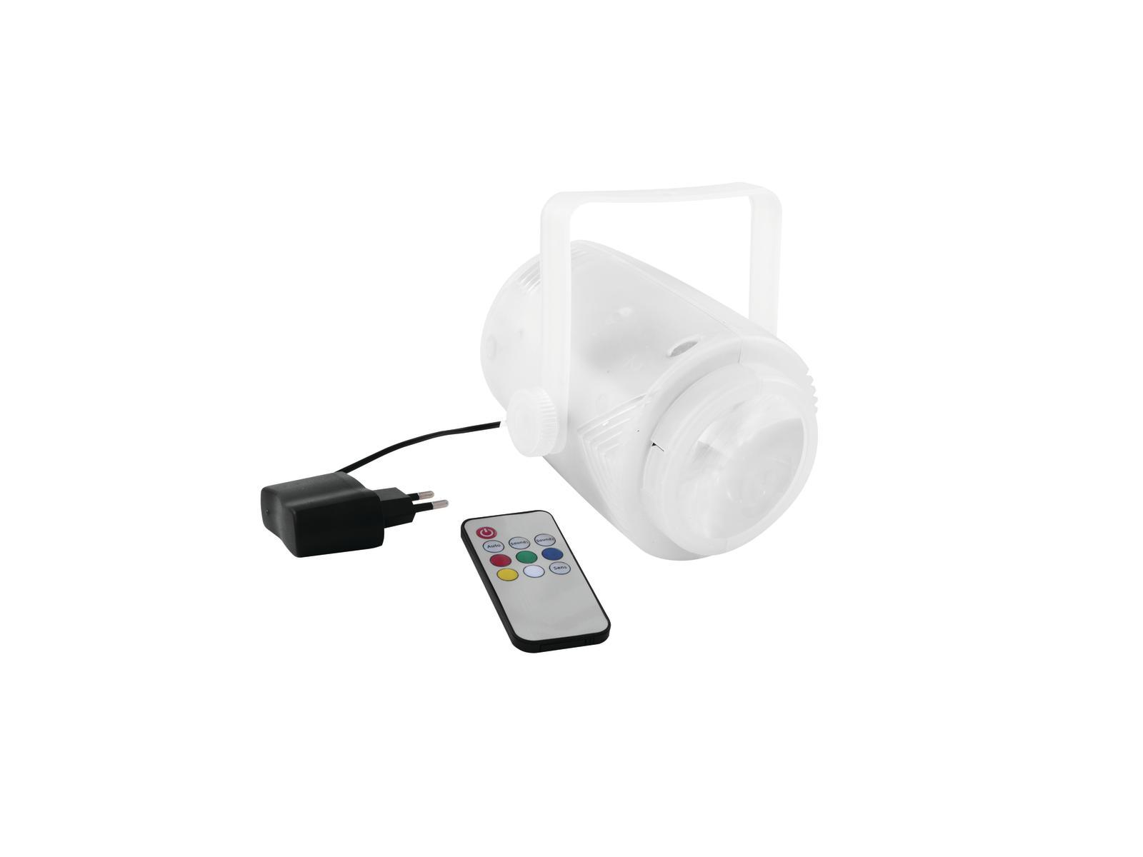 Eurolite LED Moon AKKU 5x3W RGBAW, IR, dobíjecí baterie