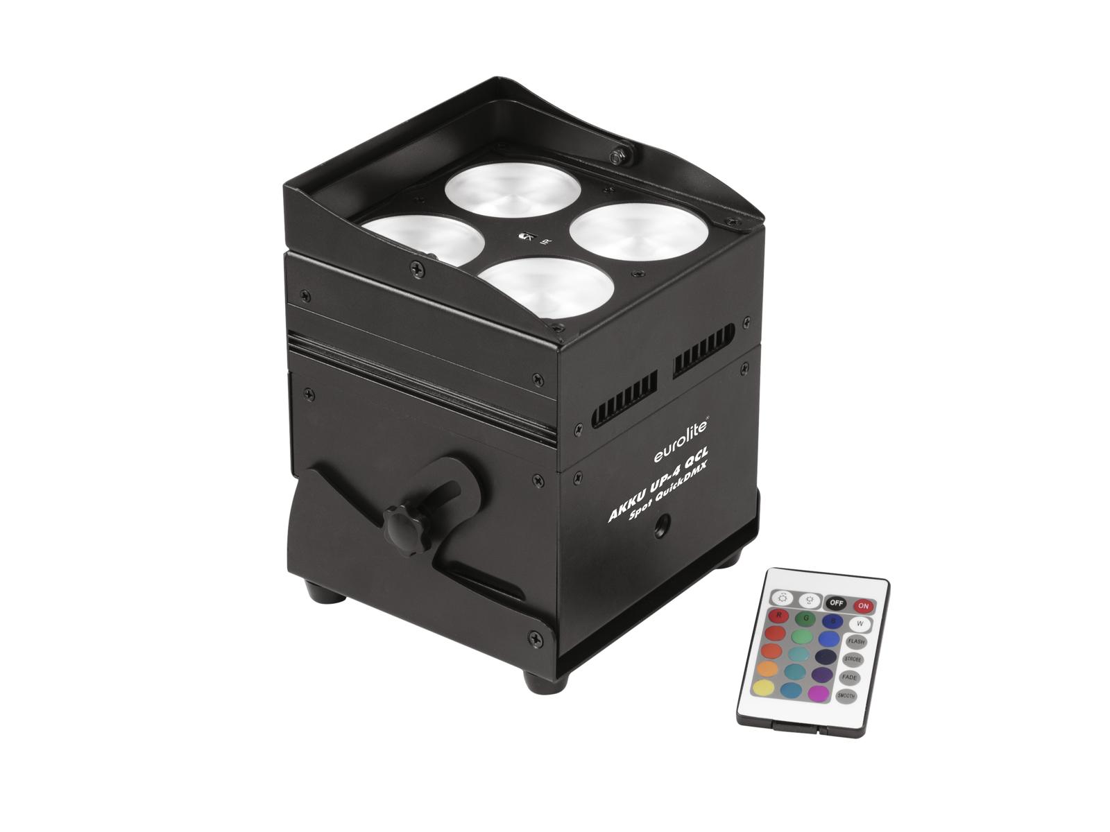 Eurolite LED AKKU TRUSSLIGHT 4x8W QCL QuickDMX, IR, dobíjecí bater