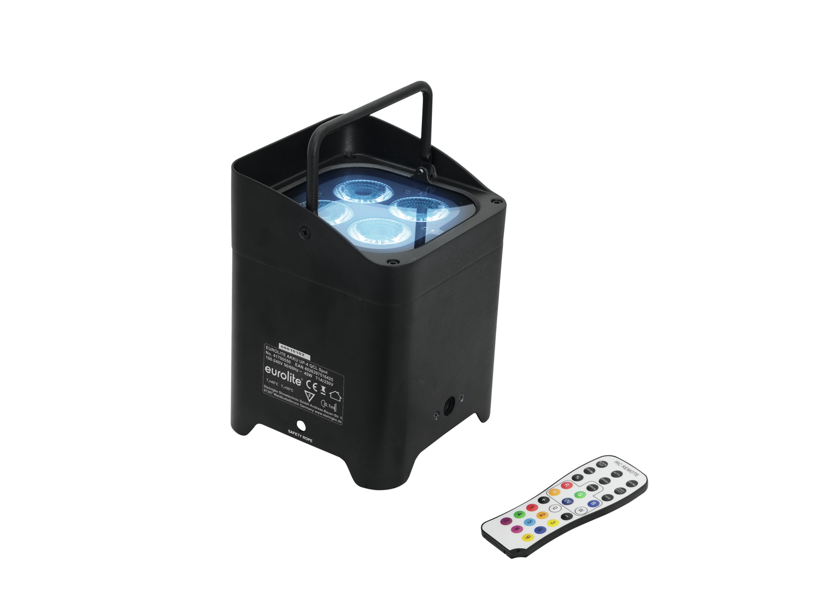Eurolite LED AKKU TRUSSLIGHT 4x8W QCL DMX, IR, dobíjecí baterie