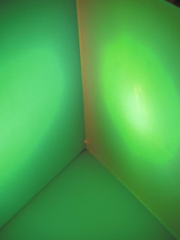 Dichrofiltr 165 x 132 mm, mléčný, světle zelený