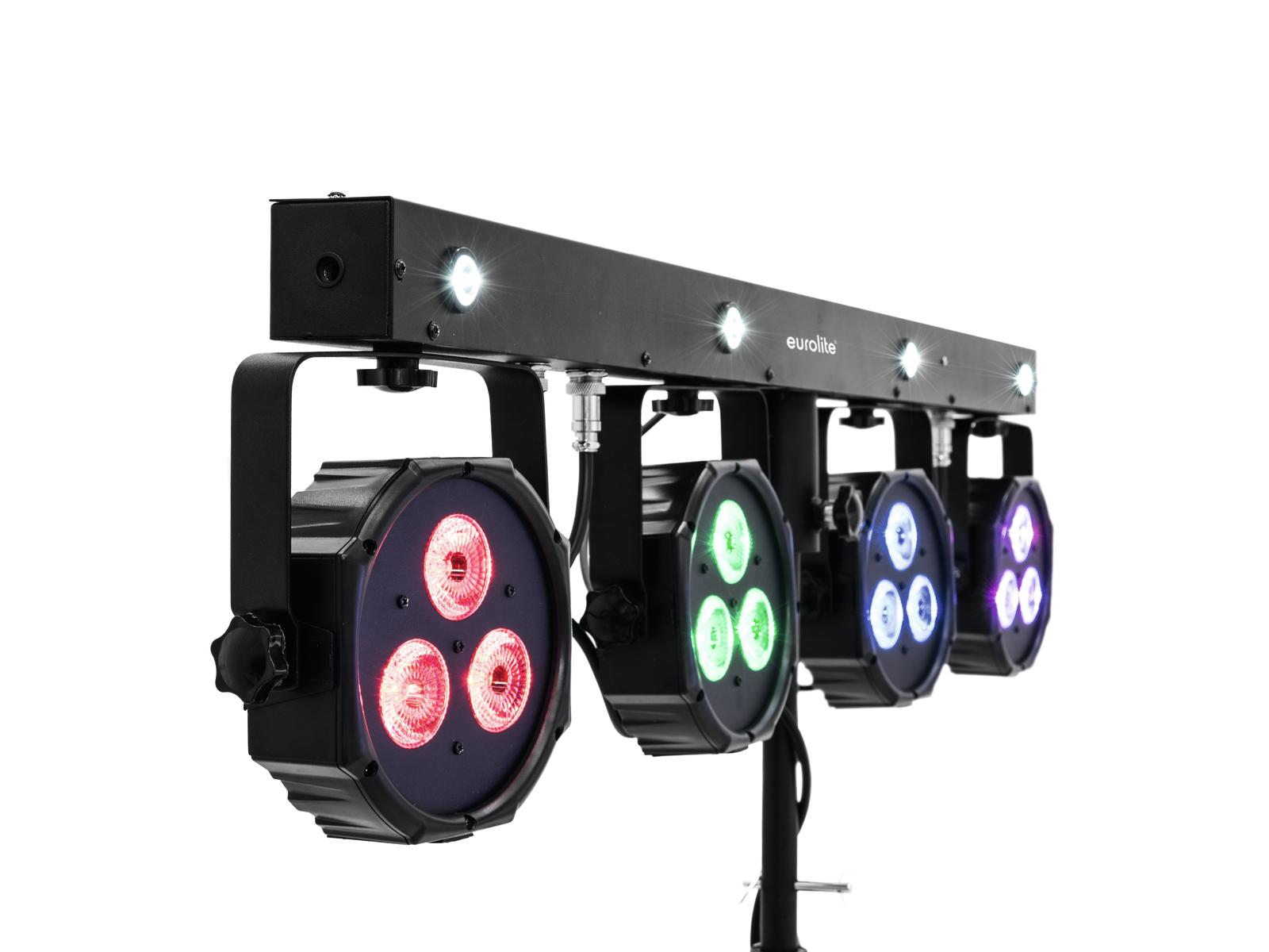 Eurolite LED KLS-170 12x3W TCL, 4X2W UV/bílá DMX, světelná rampa