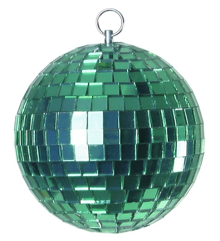 Zrcadlová koule 10 cm, zelená