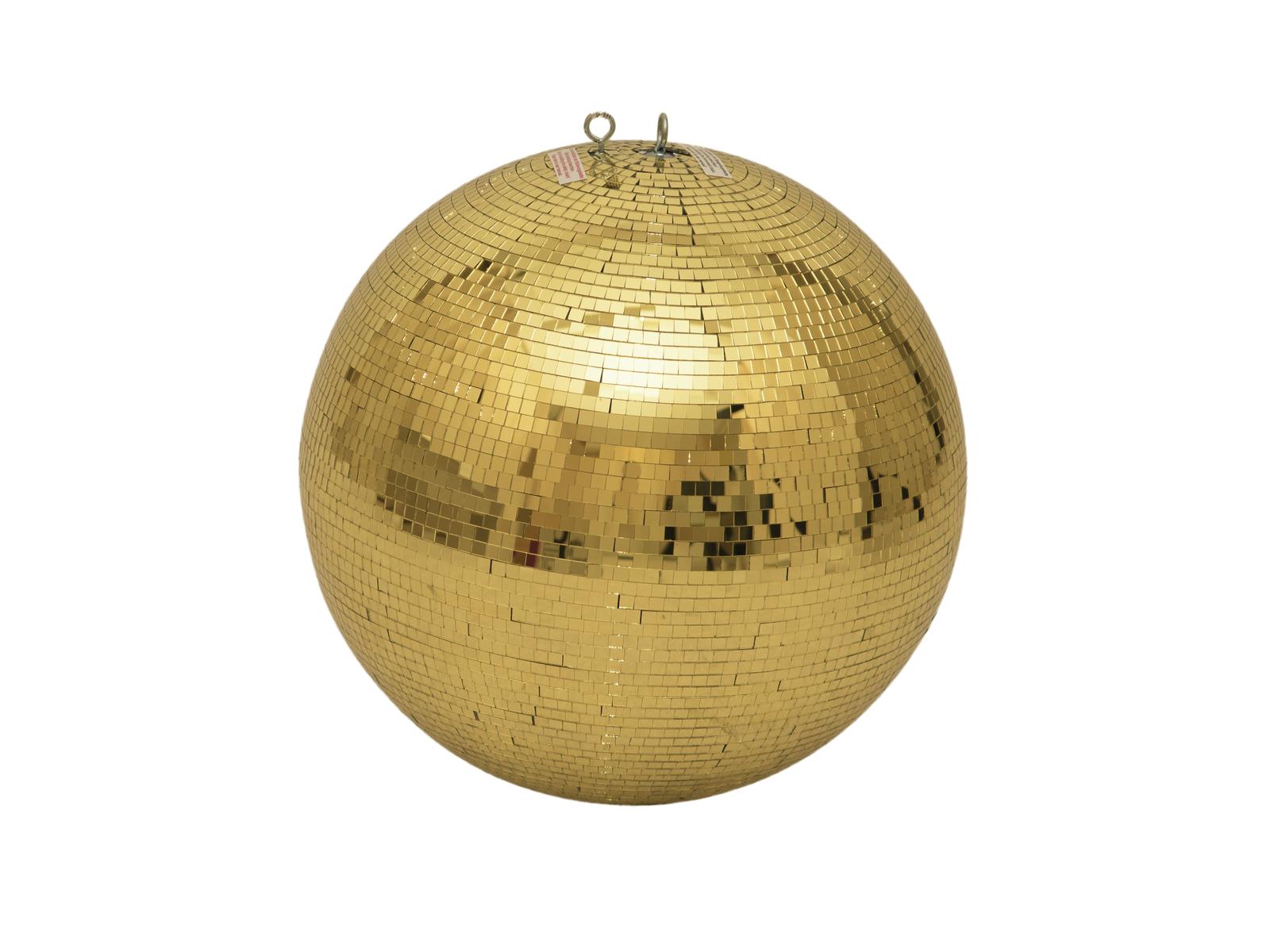 Zrcadlová koule 40 cm, zlatá