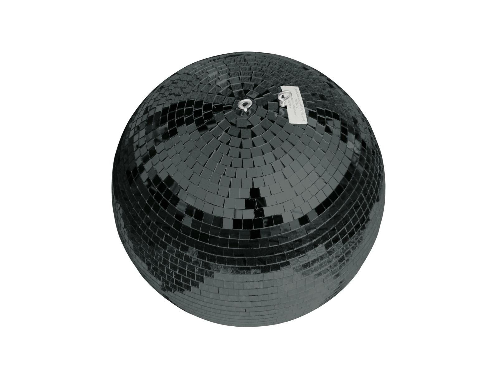 Zrcadlová koule 40 cm černá