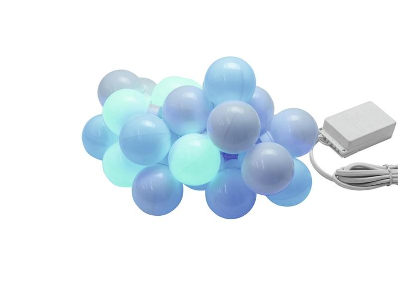 Eurolite LED světelný řetěz s barevnými kuličkami RGBW, délka 5m
