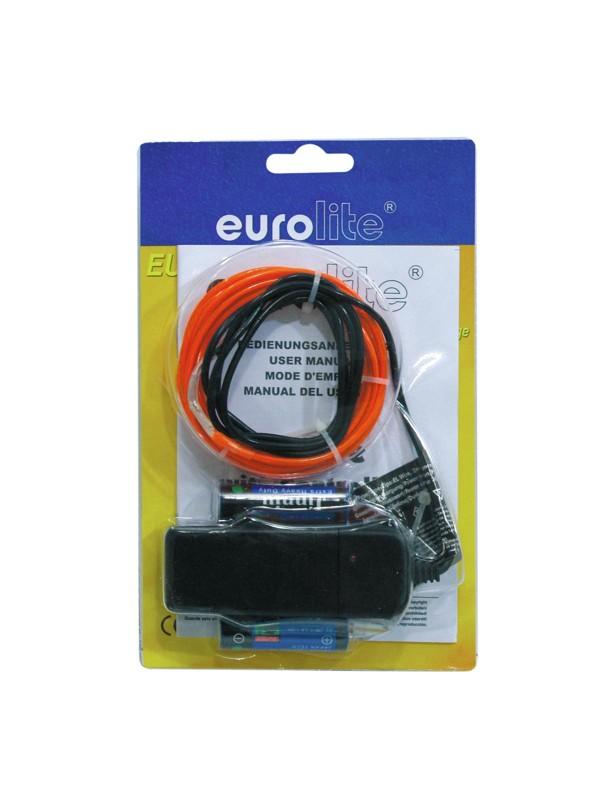 Eurolite neonový provázek 2mm, 2m, červený