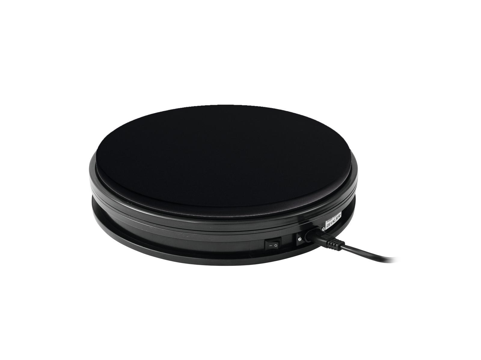 Podstavec rotační 250mm, do 25kg, 0,5 o/min, černý