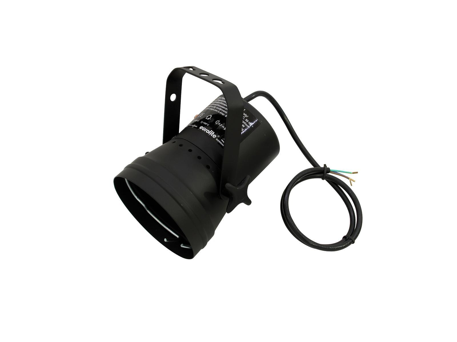 PAR 36T, černý, bodový reflektor