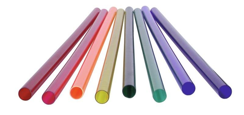 Barevný filtr pro neónovou trubici T12, 58,5 cm, fialový