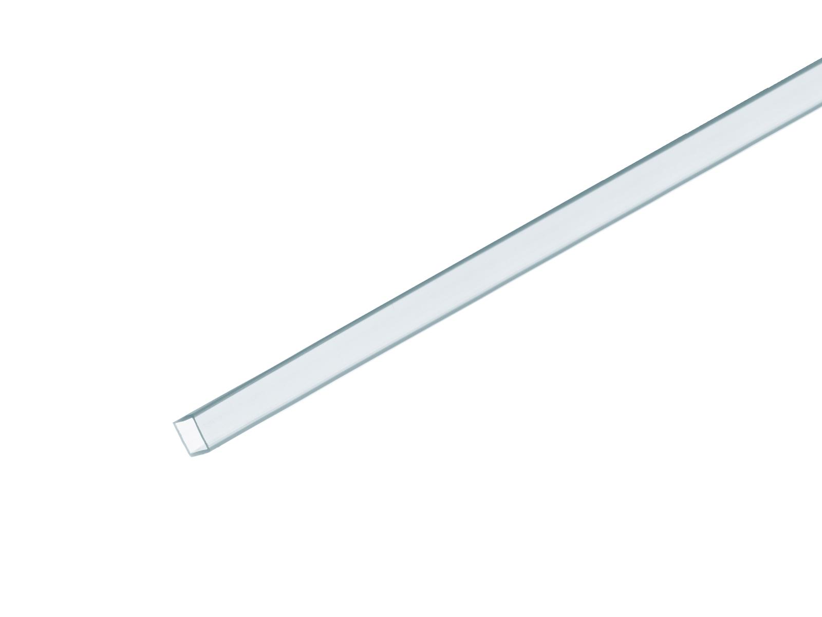 Profil 10x10mm, UV aktivní, světle modrý 4m