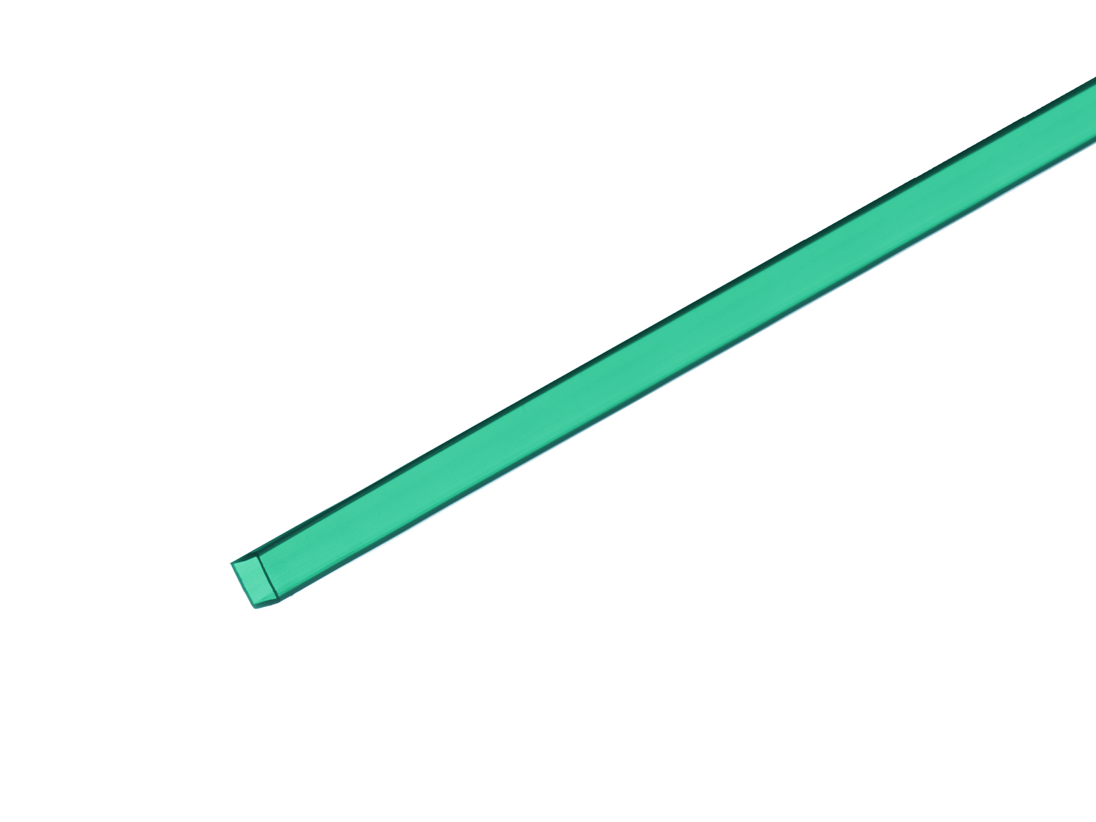 Profil 10x10mm, zelený, 2m