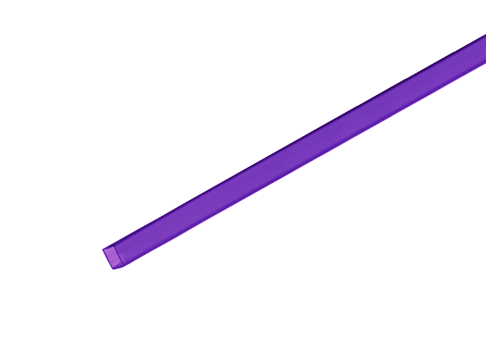 Profil 10x10mm, fialový, 4m