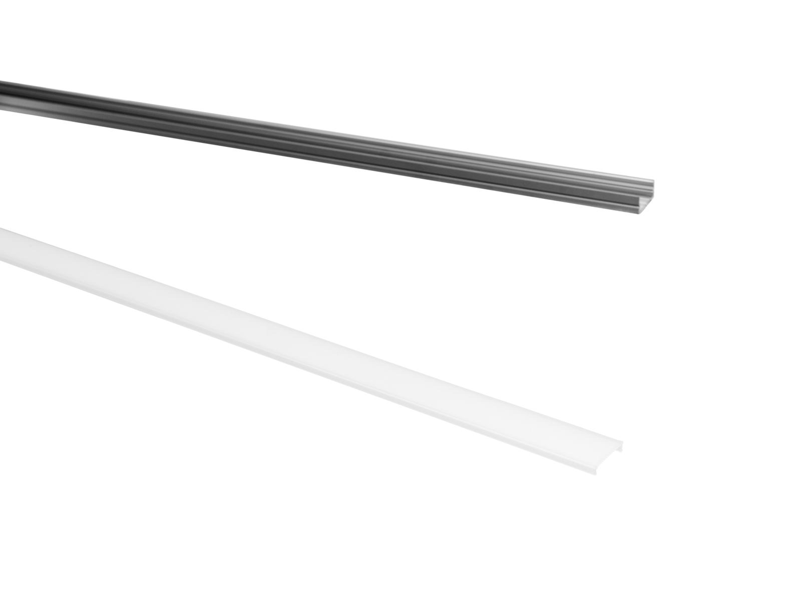 Eurolite krytka pro U profil 20 mm pro LED pásky, mléčná, 2m