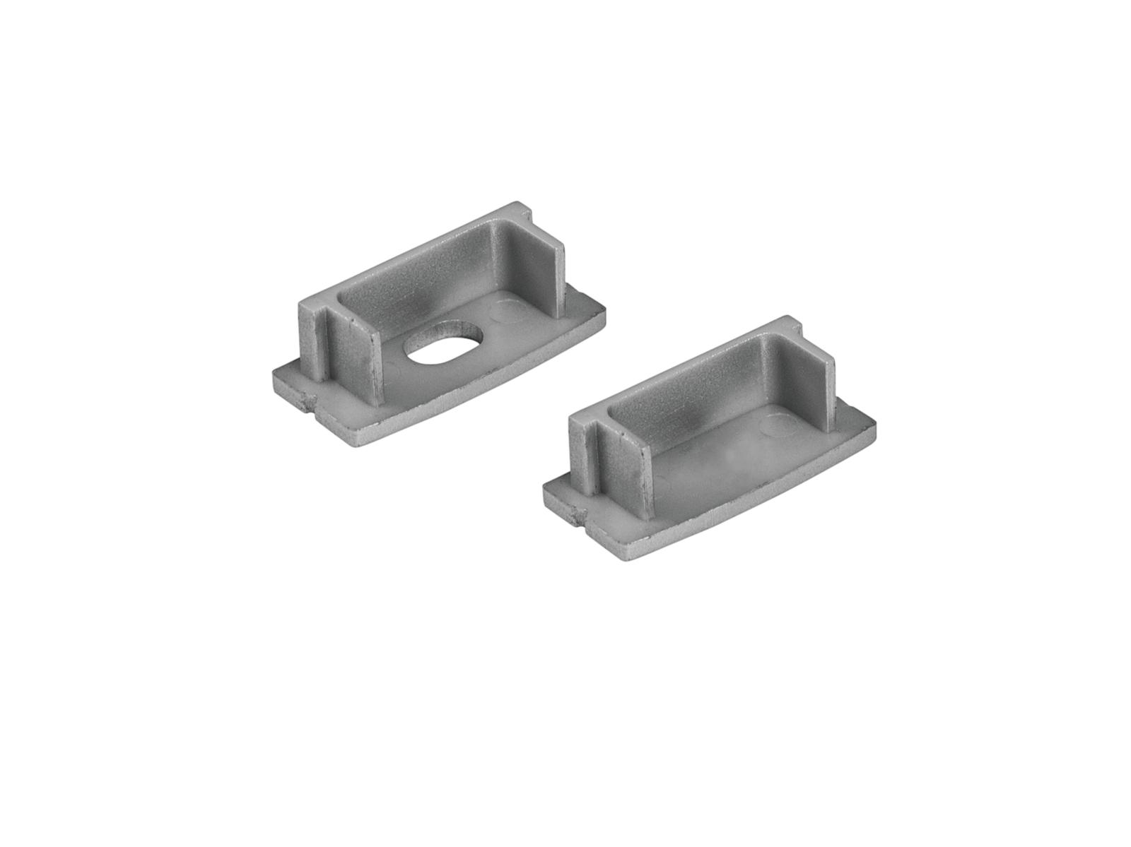 Eurolite záslepka pro U profil 20 mm pro LED pásky, stříbrná