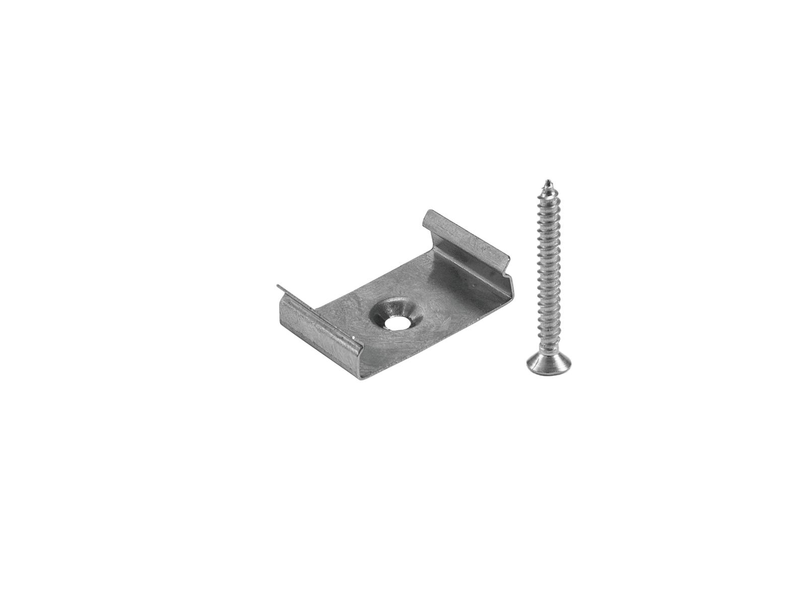 Montážní držák pro AL profil 20 mm pro LED pásky, ocelový