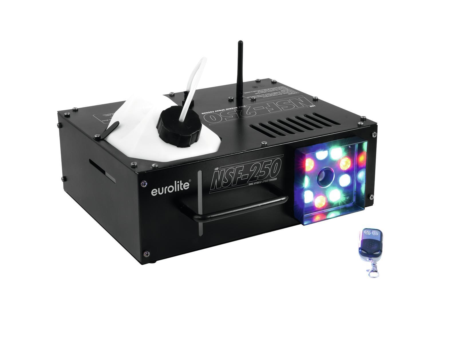 Eurolite NSF-250 LED DMX Hybridní výrobník mlhy s LED diody