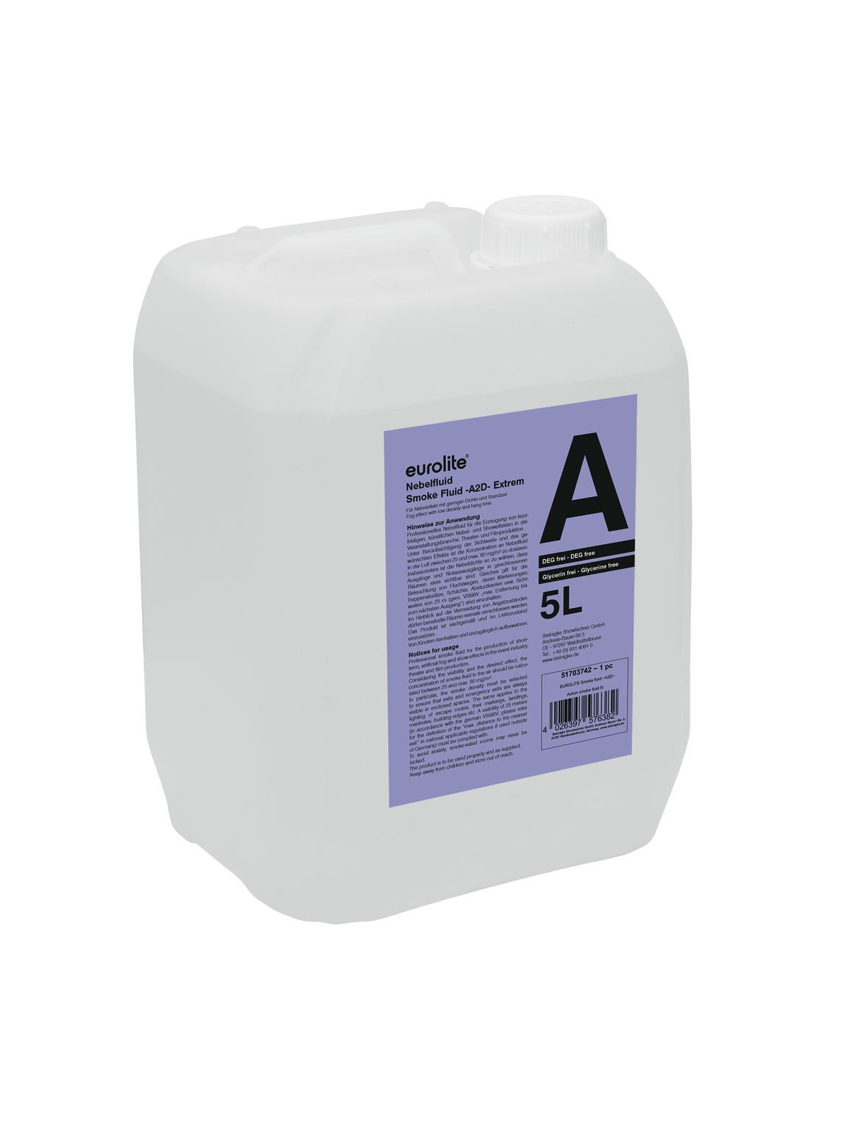 Eurolite náplň do výrobníku mlhy -A2D- Action smoke fluid 5l