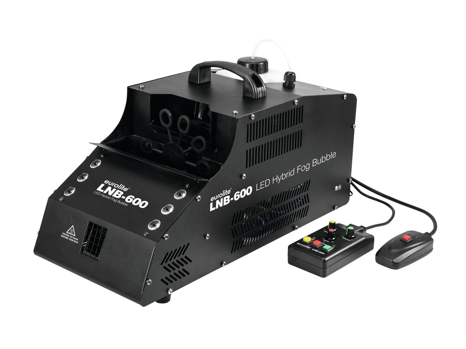 Eurolite LNB-600 LED, výrobník mlhy a bublin s RGB LED efektem