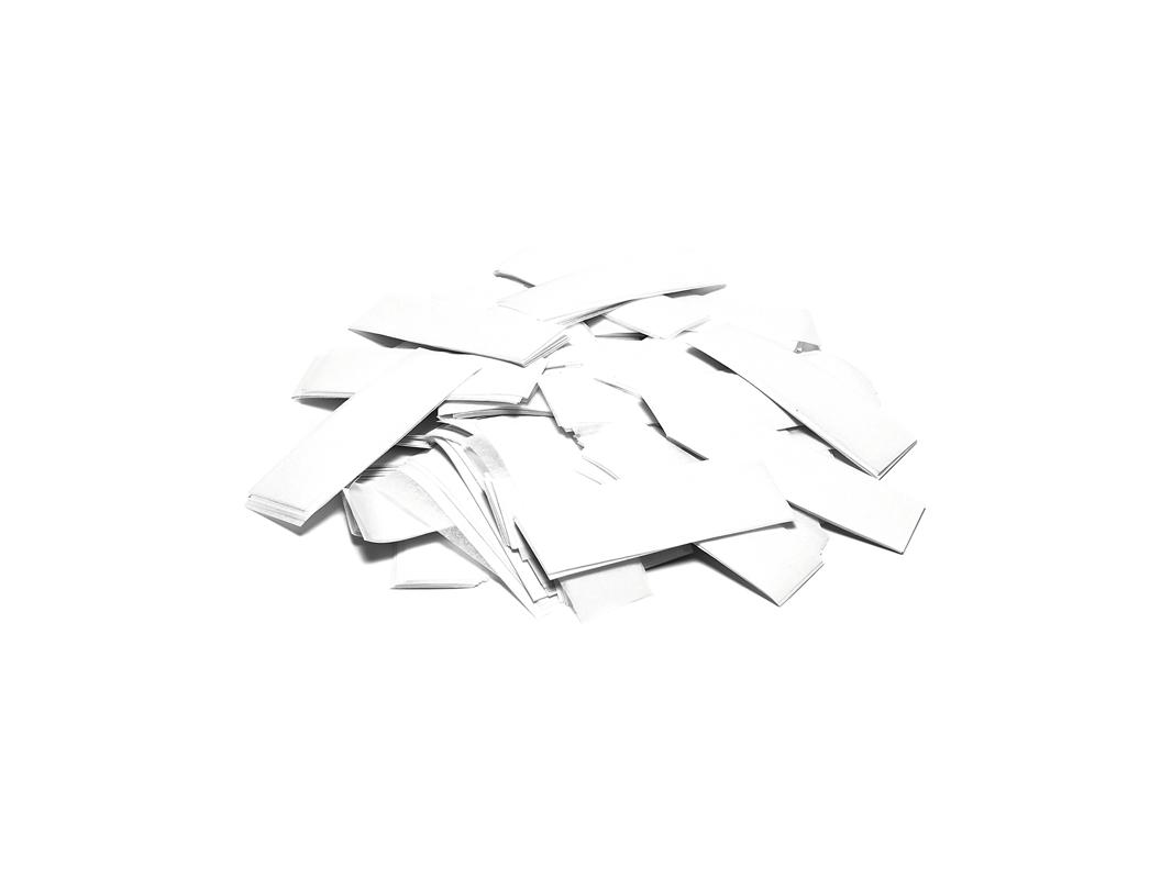 Tcm Fx pomalu padající obdélníkové konfety 55x18mm, bílé, 1kg