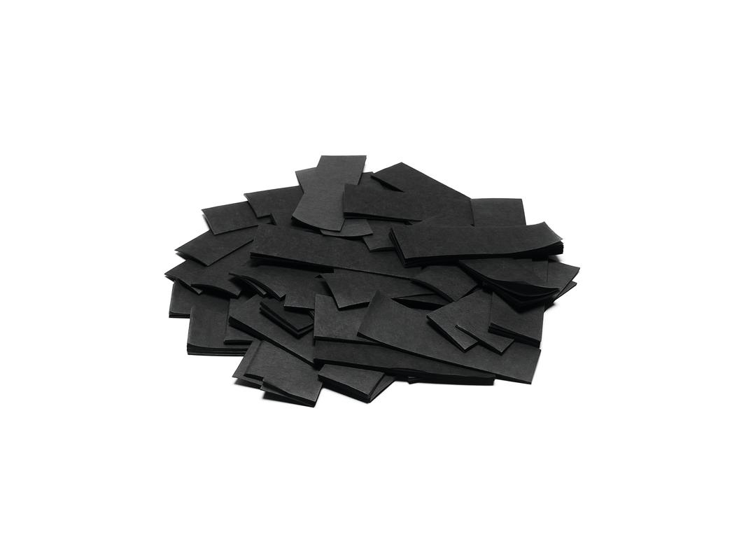 Tcm Fx pomalu padající obdélníkové konfety 55x18mm, černé, 1kg