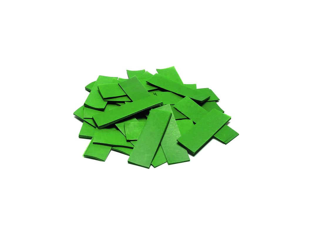 Tcm Fx pomalu padající obdélníkové konfety 55x18mm, tmavě zelené,