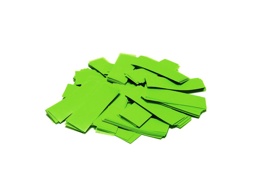 Tcm Fx pomalu padající obdélníkové konfety 55x18mm, světle zelené,