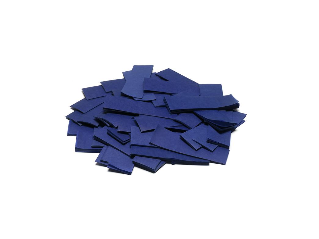Tcm Fx pomalu padající obdélníkové konfety 55x18mm, tmavě modré, 1