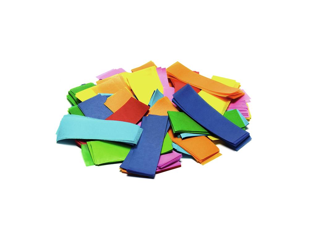 Tcm Fx pomalu padající obdélníkové konfety 55x18mm, barevné, 1kg